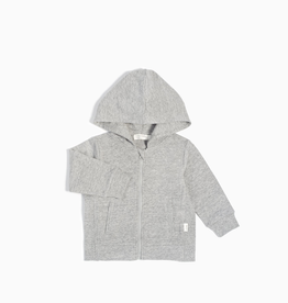 """Miles Basic"" Zip Up Hoodie For Baby in Heather Grey"