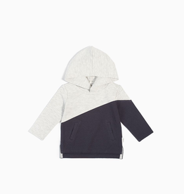 Knit Hooded Sweatshirt for Boy in Light Heather Grey