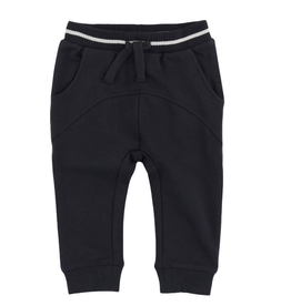 French Terry Jogger Pants for Baby Boy in Dark Grey