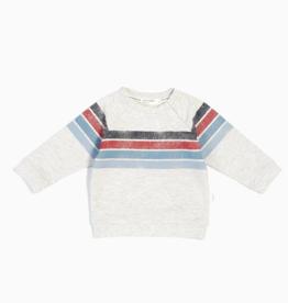 Knit Sweatshirt for Girl in Light Heather Grey