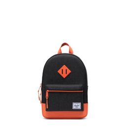 Herschel Supply Co. Heritage Kids Backpack, Black/Firecracker, 9L