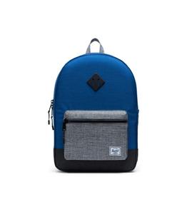 Herschel Supply Co. Heritage Backpack | Youth XL, 22L, Monaco Blue/Black/Raven Crosshatch