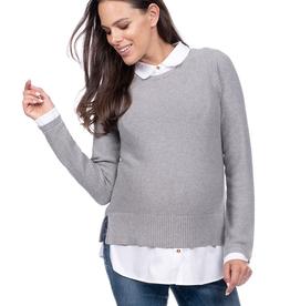 Seraphine Marianne, Mock Shirt Maternity & Nursing Jumper