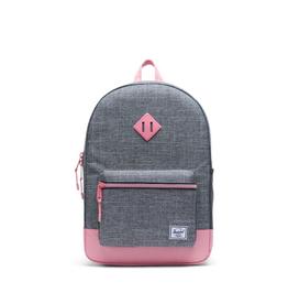 Herschel Supply Co. Heritage Backpack | Youth XL, 22L, Raven Crosshatch/Flamingo Pink