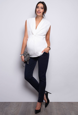 Seraphine Rylie Twist Short Sleeve Maternity Blouse