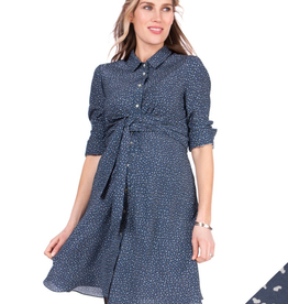 Seraphine Dominic, Woven Maternity and Nursing Shirt Dress