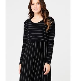 Ripe Maternity Crop Top Long Sleeve Nursing Dress