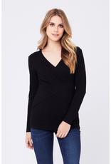 Ripe Maternity Embrace Black Long Sleeve Nursing Tee