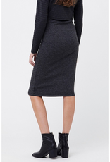 Ripe Maternity Ribbed Knit Maternity Charcoal Pencil Skirt