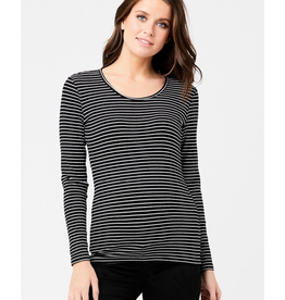 Ripe Maternity Round About Stripe Long Sleeve Maternity Tee