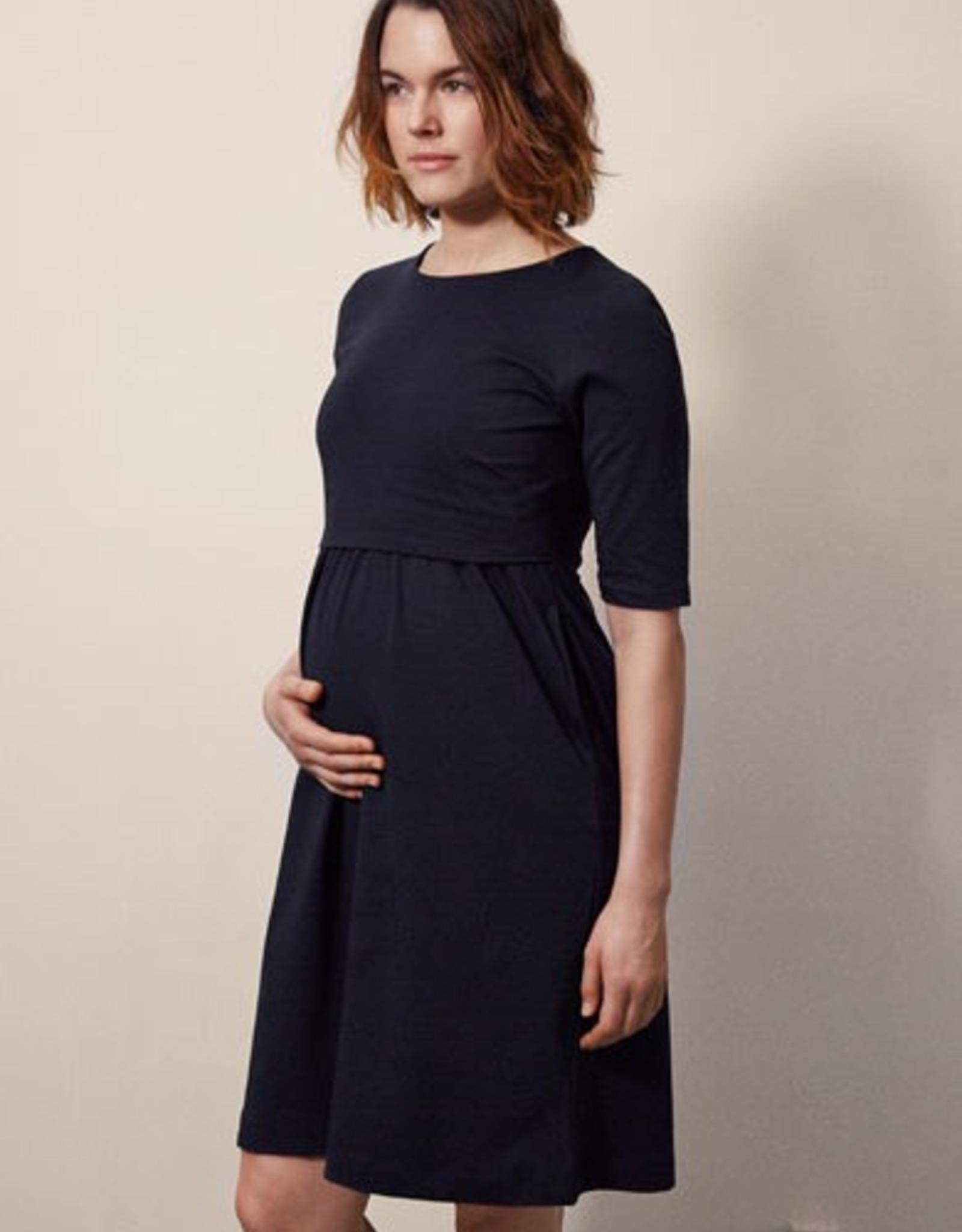 Boob Design Linnea Maternity/Nursing Dress in Midnight Blue