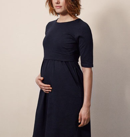 Boob Design Linnea Maternity/Nursing Dress in Midnight Blue