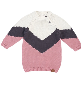 Long Sleeve Knit Sweater Dress for Baby Girl