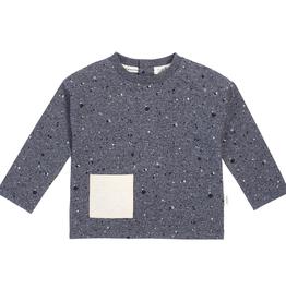 Dark Blue Paint Splatter Long Sleeve Shirt for Baby Boy