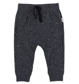 Speckled Knit Jogger Pants for Baby Boy in Dark Blue