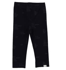 Verbiage Knit Leggings for Girls in Navy