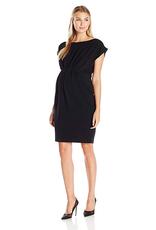 Ripe Maternity Lily Cap Sleeve Maternity Dress in Black