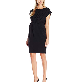 Ripe Maternity Lily Cap Sleeve Maternity Dress in Black