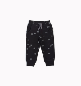 "Black ""Play/Replay"" Jogger for Boy"