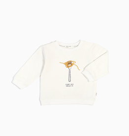 "Off White ""Fork-Get About It"" Crewneck Sweatshirt for Kids"