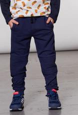 Deux Par Deux Navy Jogger Pants Biker Style for Boy
