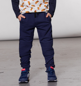 Deux Par Deux Navy Jogger Pants Biker Style for Boy