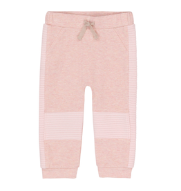 Deux Par Deux Light Pink Jogging Pants With Quilted Knees for Baby Girl