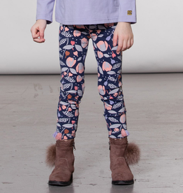 Deux Par Deux Floral Print Legging for Girl