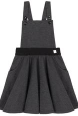 Deux Par Deux Charcoal Herringbone Jumper Skirt for Girl