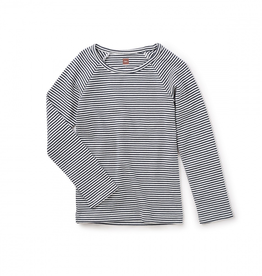 Tea Collection Striped Long Sleeve Purity Tee for Girl
