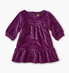 Tea Collection Velour Ruffle Dress for Baby Girl