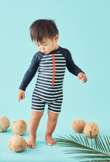 Tea Collection Outrigger Indigo Stripe Rashguard One-piece for Baby Boy