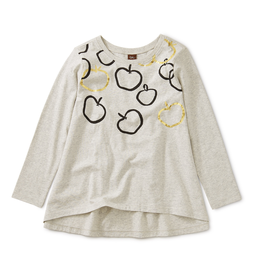 Tea Collection Golden Bounty Graphic Twirl Top for Girl