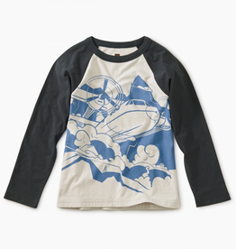 Tea Collection Turbo Prop Graphic Raglan Tee for Boy