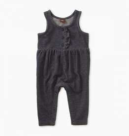 Tea Collection Denim-Like Romper for Baby Girl