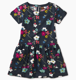Tea Collection Himalayan Blossoms Printed Woven Pocket Dress for Girl
