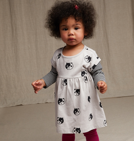 Tea Collection Printed Layered Sleeve Baby Dress for Baby Girl