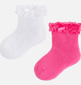 Mayoral Girls' Socks with Lace Set of 2