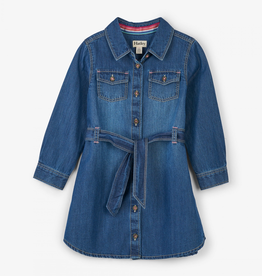 Hatley Button Down Denim Belted Dress for Girl