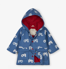Hatley Farm Tractors Colour Changing Raincoat for Baby Boy