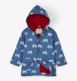 Hatley Farm Tractors, Colour Changing Raincoat for Boy