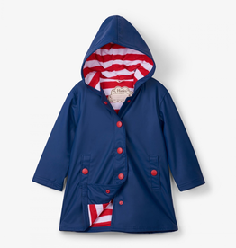 Hatley Navy with Red Stripe Lining Splash Jacket for Girl