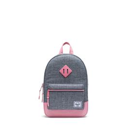 Herschel Supply Co. Heritage Backpack | Kids, Raven Crosshatch/Flamingo Pink, 9L