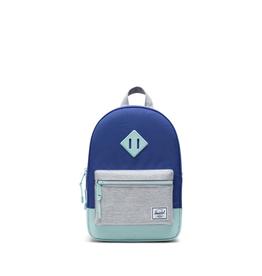 Herschel Supply Co. Heritage Backpack | Kids, Orient Blue/Light Grey Crosshatch/Eggshell Blue, 9L