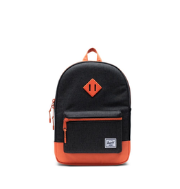 Herschel Supply Co. Heritage Backpack | Youth, Black Crosshatch/Firecracker, 16L