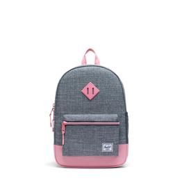 Herschel Supply Co. Heritage Backpack | Youth, Raven Crosshatch/Flamingo Pink, 16L