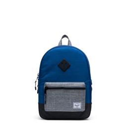 Herschel Supply Co. Heritage Backpack | Youth, Monaco Blue/Black/Raven Crosshatch, 16L