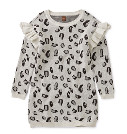 Tea Collection Snow Leopard Sweater Dress for Girl