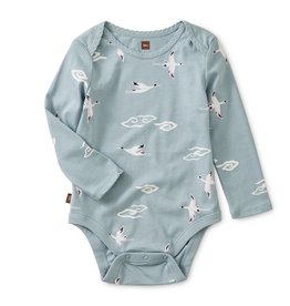 Tea Collection Crane Print Bodysuit for Baby Girl