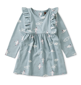 Tea Collection Crane Cloud Ruffle Baby Dress for Baby Girl